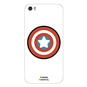 Hamee Marvel iPhone 6 / 6S Case Cover Cute Captain America Shield White