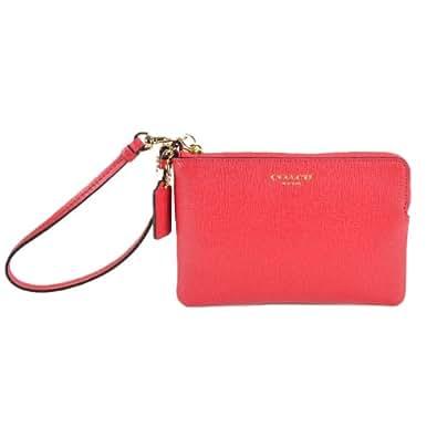 coach saffiano leather small wristlet light gold pink. Black Bedroom Furniture Sets. Home Design Ideas