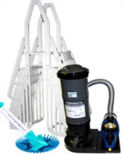 Blue Wave Supreme Round Cartridge Equipment Package - 12 Ft Large батут unix 16 ft supreme blue