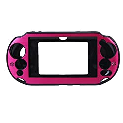 Imported Aluminum Hard Case Cover for Sony VITA2000 PS VITA2000 - Shocking Pink