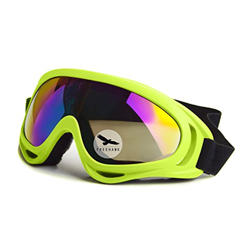 Best Deals! Freehawk® Protective Eyewear Goggles with Adjustable Strap and Cool Colorful Lens for H...