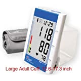 EastShore Upper Arm digital blood pressure monitor with large cuff (designed for big people) . 120 memory in 4...