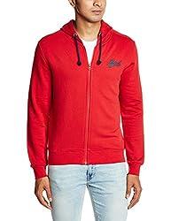 IZOD Men's Cotton Sweatshirt (8907036864755_ZJSS0290_Medium_Red)