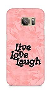 Amez Live Love Laugh Back Cover For Samsung Galaxy S7 Edge