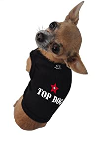 Ruff Ruff and Meow Dog Tank Top, Top Dog, Black, Extra-Small