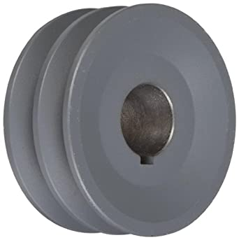 "TB Woods 2AK321 FHP Bored-To-Size, 3.25"" Outside Body Diameter, 1"" Bore Diameter V-Belt Sheave"