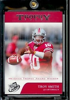 2007 Press Pass # Troy Smith #69 Trophy Club - Ohio State - Baltimore Ravens RC - Rookie Football Card - Shipped In Screwdown Case