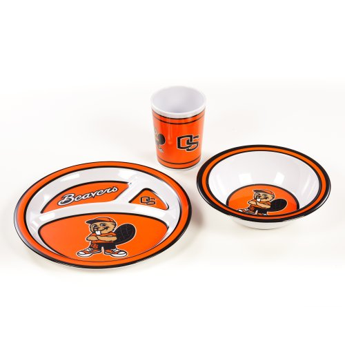 NCAA Oregon State Beavers Kid's Dish Set (3-Piece)