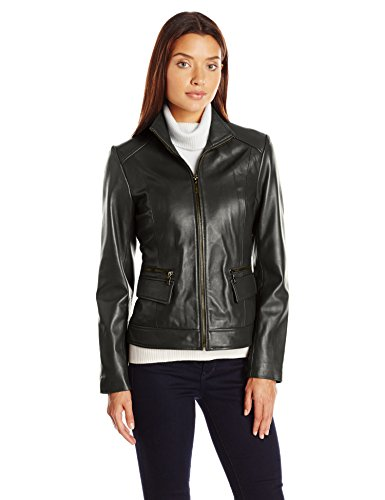 Cole Haan Women's Wing Collar Jacket, Black, X-Small (Cole Haan Womens Jacket compare prices)