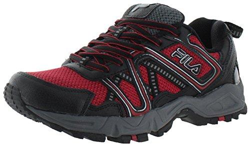 Fila Men's Ascente 15 Trail Running Shoe, Fila Red/Black/Castle Rock, 11.5 M US