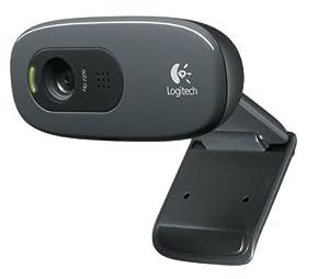 Logitech HD Webcam C270 Webcam HD avec microphone intégré compatible Skype/MSN/Facebook Noir (version Europe de l'Ouest)