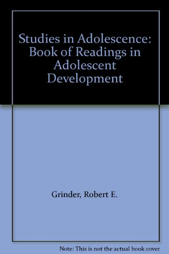 Studies in Adolescence: Book of Readings in Adolescent Development PDF