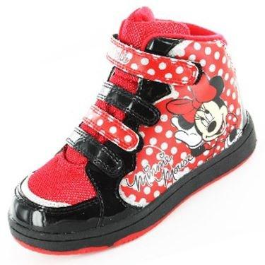 Ragazze Minnie Mouse Cuori Sneaker Nero, Nero (nero), 29 EU