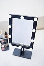 Makeup mirror with lights Hollywood lighted Vanity mirror Wood Mirror Bathroom Mirror Mirror with lights Vanity mirror with lights (Black)