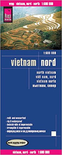 Vietnam norte, mapa impermeable de carreteras. Escala 1:600.000 impermeable. Reise Know-How. (Reise Know-How Verlag)