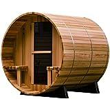Almost Heaven Saunas Audra Canopy Barrel Sauna (4 person)