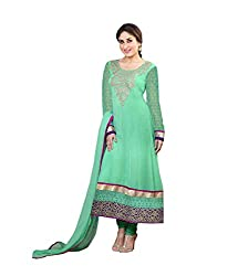 Khazana Women's Unstitched Dress Material (khazana-k-2108_Green_Free Size)