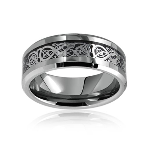 bling jewelry celtic dragon tungsten wedding ring band