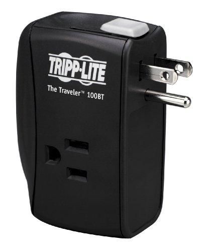 Tripp Lite Traveler100Bt Notebook Surge Protector Wallmount Direct Plug In 2 Outlet Rj45 front-563742