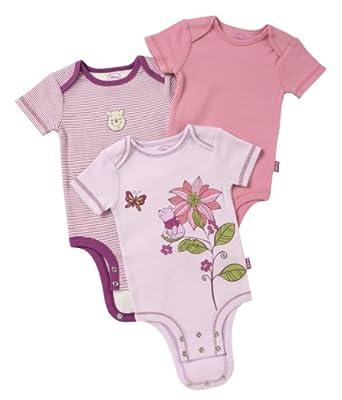 Disney Cuddly Bodysuit - Fashion 3 Pack: Winnie The Pooh Striped , Purple/Pink/Lilac, 3-6 Months