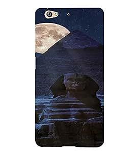 PrintVisa Travel Egypt Pyramids Night Design 3D Hard Polycarbonate Designer Back Case Cover for Gionee S6