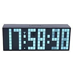ZJchao Large Big Number Jumbo LED Snooze Wall Desk Alarm Clock Countdown Clock (White, 6-digit)
