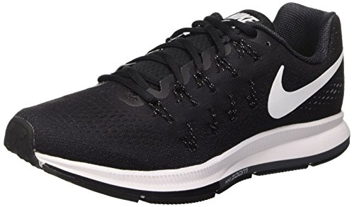 Nike Air Zoom Pegasus 33, Scarpe da Ginnastica Uomo, Negro (Black / White-Anthracite-Cl Grey), 44.5 EU