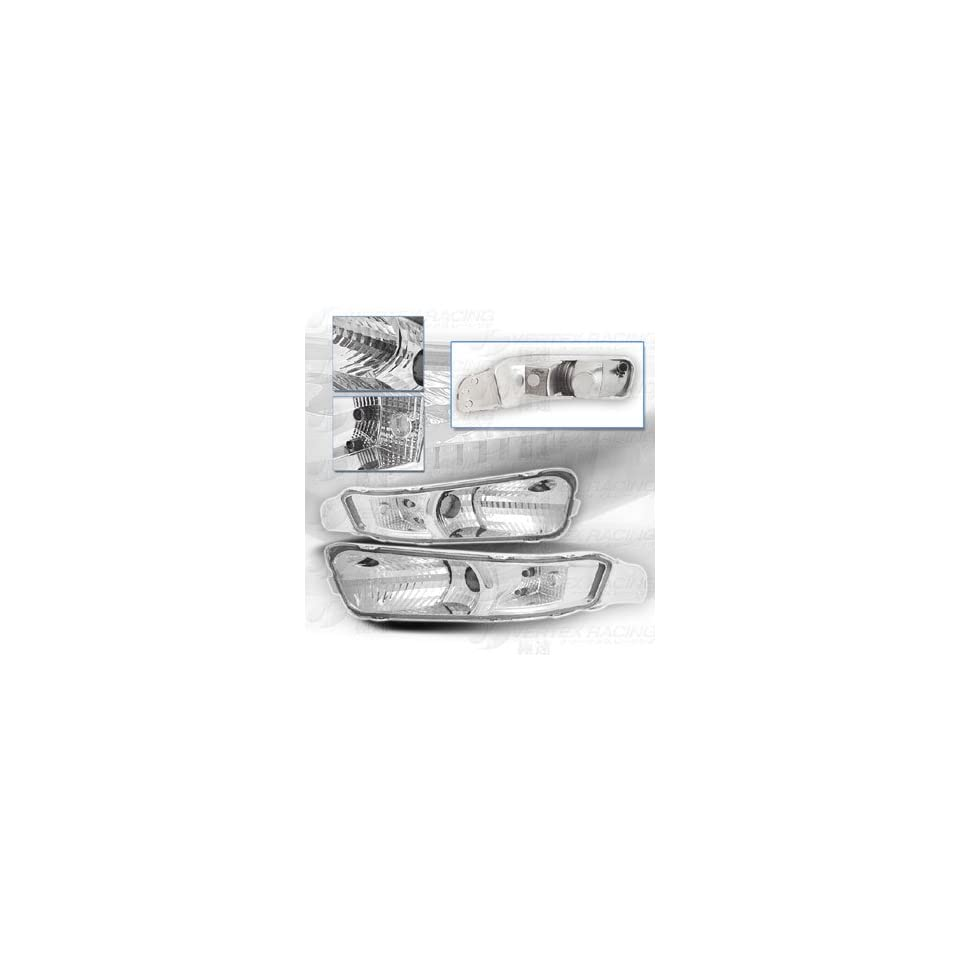 05 Up FORD MUSTANG Front Bumper Lamp   Chrome Housing