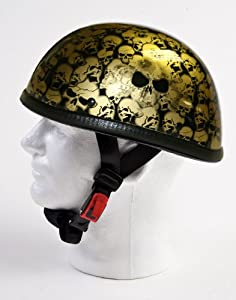 Novelty Low Profile Smokey Skulls Eagle Motorcycle Helmet - Not DOT Approved - Not For Use As Safety Equipment, 2XL