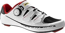 Mavic Ksyrium Pro II Shoes - Men\'s White/Black/Racing Red, 11.5