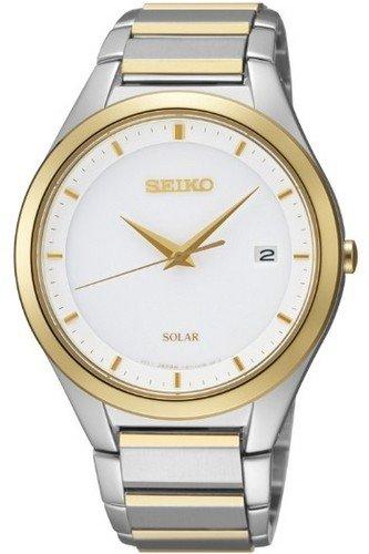 [Seiko] SEIKO watch Seiko SEIKO overseas model imports life waterproof 50 solar power solar calendar analog clock watch Silver / Gold