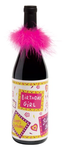 Lolita Vinyl Wine Bottle Wrap, Birthday Girl