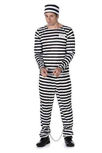 [Male Prisoner - Halloween Costume (XL)] (1980s Movie Character Costumes)