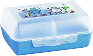 EMSA 513792 Brotdose VARIABOLO Clipbox mit Trennwand, ANTON ANT, 16 x 11 x 7 cm (spülmaschinenfest, BPA frei)
