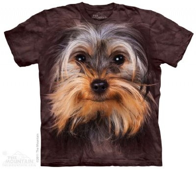 Yorkshire Terrier Face The Mountain Tee Shirt Adult S-Xxxl Size: X Large