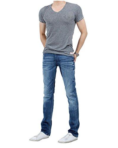 DIESEL - Jeans da Uomo KROOLEY 805Q - Regular Slim - Carrot - Non Stretch - blu, W29 / L32
