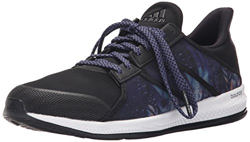 Adidas Performance Women's Gymbreaker Bounce Training Shoe,Black/Night Metallic/Super Purple,6.5 M US