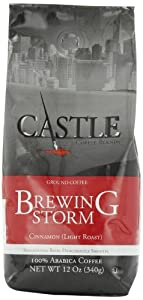 White Coffee Ground Coffee, Castle Brewing Storm, 12 Ounce