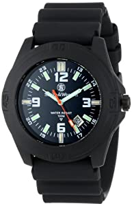 Smith & Wesson Mens SWW-12T-N Soldier Tritium H3 Black Nylon Strap Watch by Smith & Wesson