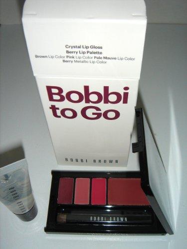 BOBBI BROWN Bobbi to Go Set for Lip : Crystal Lip Gloss ,Berry Lip Palette .