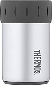 Thermos Stainless Steel Beverage Can Insulator for 12 Ounce Can, Gunmetal Gray