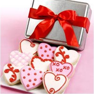 Fancy Hearts Valentine Cookie Tin
