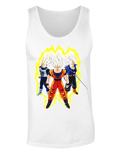 Dragon Ball Z Super Saiyans Women's Tank Top Shirt Medium