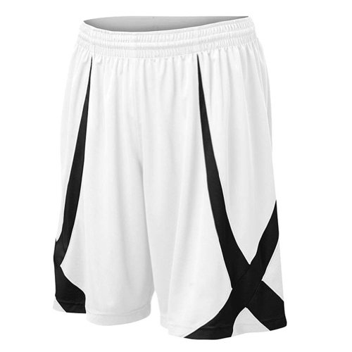TopTie Men's Basketball Shorts, Active Running Shorts, Jersey Short, No Pockets RED-L