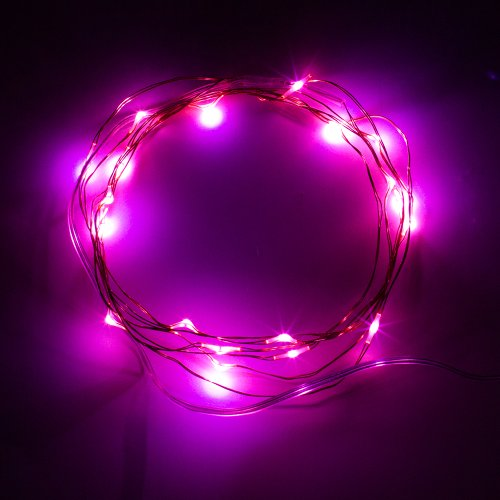 Supernight (Tm) 7Ft/2M 20 Leds Potted Plants Copper Led Strings Aa Battery Powered Ultra Thin String Lights Wire Portable Christmas Trees Lighting Decorative Pink Led Strings