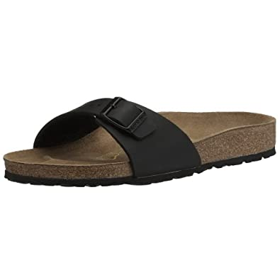 Birkenstock Unisex-Adult Madrid Birko-Flor Sandals, Black, 2.5 UK