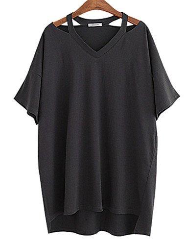 ZXR-Femme-Casual-sexy-en-plus-manches-courtes-pour-femme-Tailles-coton