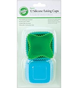 Wilton Square Silicone Baking Cups, 12 Count