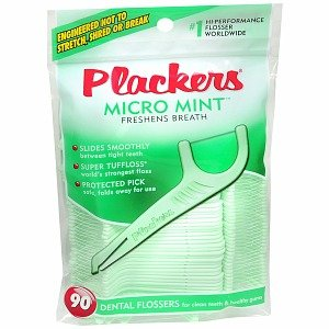 Easiest way to floss - Plackers - cheapest from Amazon