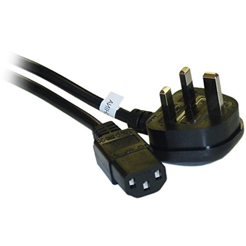 C&E CNE40520 6-Feet England/UK Computer/Monitor Power Cord with Fuse, BS 1363 to C13, VDE Approved